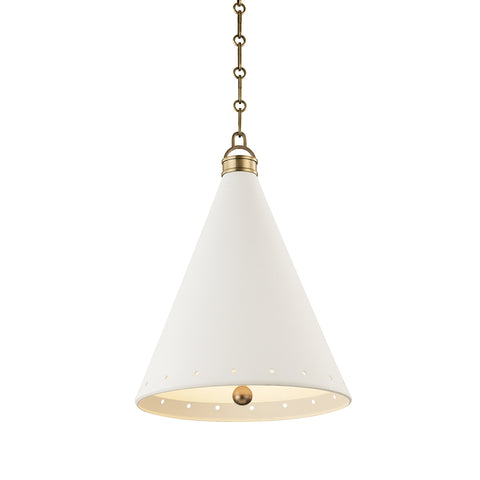 Plaster No.1 Pendant MDS401-AGB/WP-CE Hudson Valley Lighting