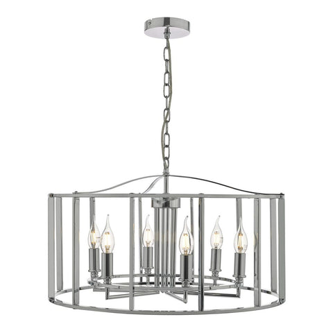 Myka 6lt Polished Chrome Lantern där lighting MYK0650