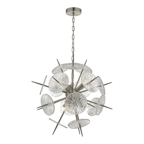 Nabila 6 lt Pendant Satin Chrome där lighting NAB0646
