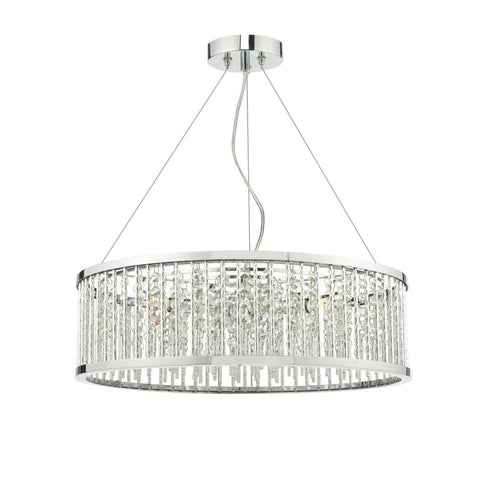 Nantes 5 Light Pendant polished chrome NAN0568 där Lighting