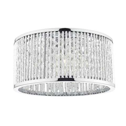 Nantes 3 Light Flush Polished Chrome där lighting NAN5368