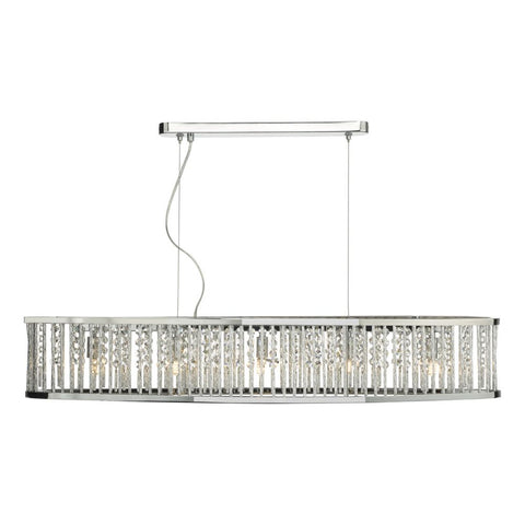 Nantes 5 Light Bar Pendant polished chrome NAN6268 där Lighting