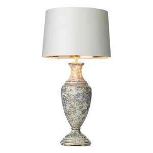 Noble Table Lamp Handpainted with Cream and Gold NOB4212