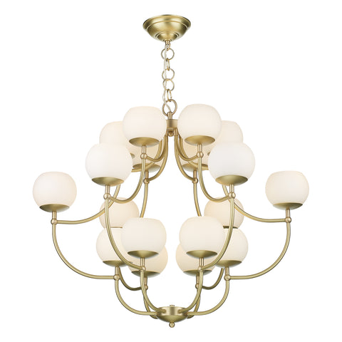 Opera Solid Brass Chandelier OPE1840 David Hunt Lighting