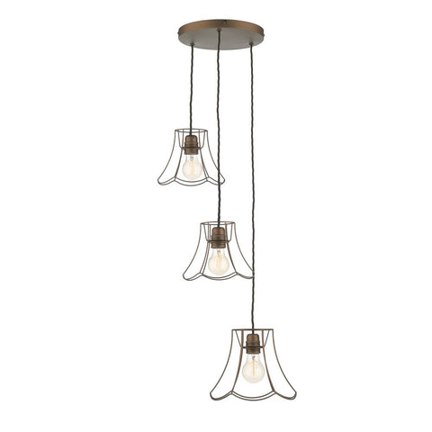 Oregon 3 Light Bronze Pendant David hunt Lighting ORE0363
