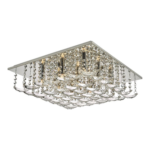 Orella Flush Crystal Square 9 Lt där lighting ORE1350