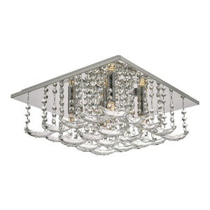 Orella Flush Crystal Square 5 Lt där lighting ORE5450