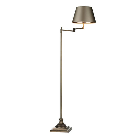Pimlico Floor Lamp Antique Brass Right Swing Arm David Hunt Lighting PIM4975R