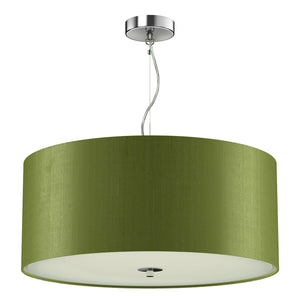 Renoir Silk Shade Pendant with Glass Diffuser 40cm REN10 - The Light Company