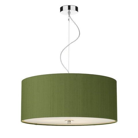 Renoir Silk Shade Pendant with Glass Diffuser 60cm REN17 - The Light Company