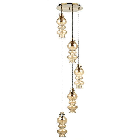 Rodeo Spiral Chandelier där lighting ROD0520