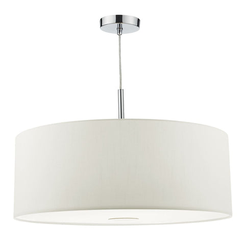 Ronda 60cm 3 Lt White Pendant Drum Shade RON172