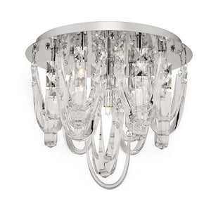 Roxanne 7lt Flush Crystal and Chrome där lighting ROX5050