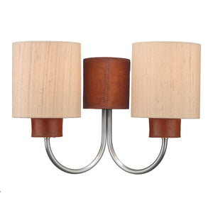 Saddler Double Wall Light SA423 David Hunt Lighting