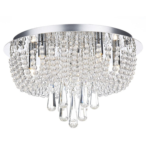 där lighting Saigon Semi flush Crystal 5 Light SAI5450
