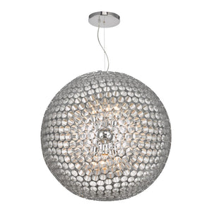 Serafina 6 lt Pendant Chrome där lighting SER8650