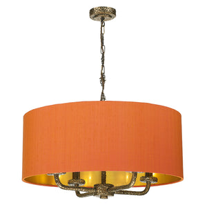 Sloane 4 Lt Pendant Complete with Silk Shade SLO400