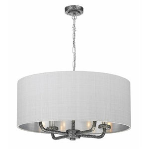 Sloane 4 Lt Pendant Complete with Silk Shade SLO0499