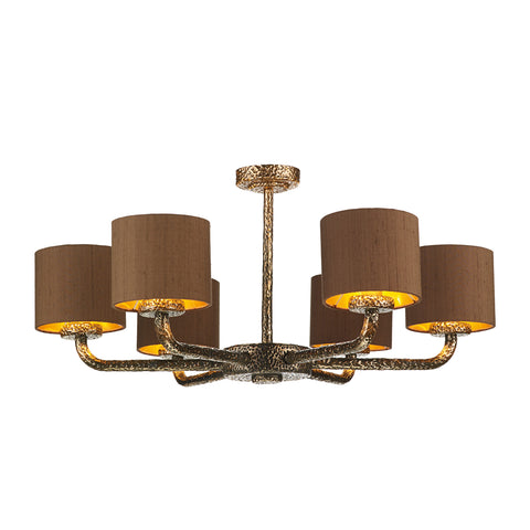 Sloane 6LT Pendant Bronze Complete with Shade SLO0600
