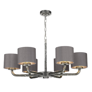 Sloane 6LT Pendant Pewter Complete with Shade SLO0699