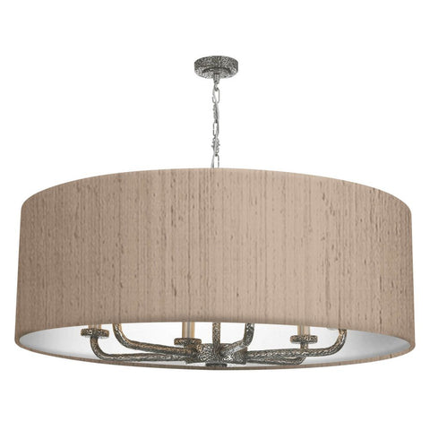 Sloane 6LT Drum Shade Pewter Pendant SLO8699 David Hunt Lighting