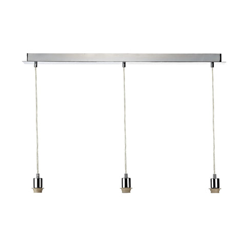 3 Light Suspension Plate Polished Chrome SP365 - The Light Company