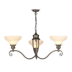 Stratford 3 Light Chandelier ST311 David Hunt Lighting