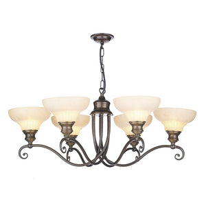 Stratford 6 Light Chandelier ST611 David Hunt Lighting