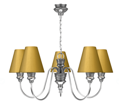 Doreen 5 Light Chandelier Pewter David Hunt Lighting