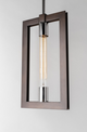 Enigma Pendant F6187-CE Bronze with Polished Stainless Troy Lighting