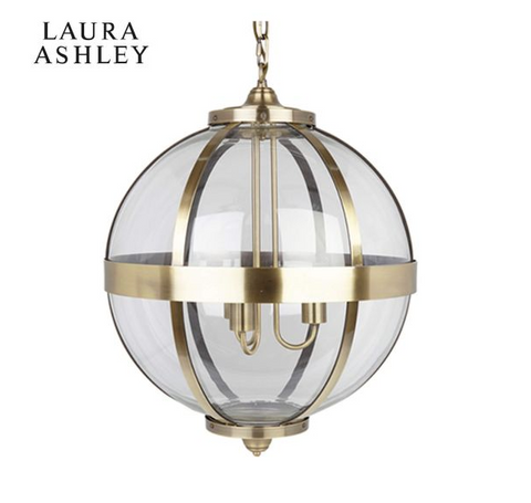 Laura Ashley Odiham Globe Lantern Ant Brass Large