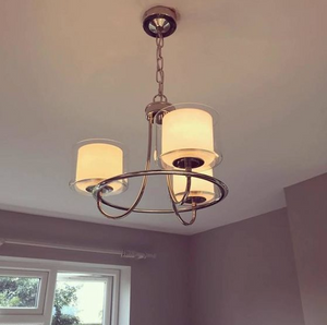 Laura Ashley Southwell 3 Light Pendant Polished Chrome