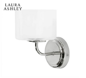Laura Ashley Southwell Wall Light Polished Chrome
