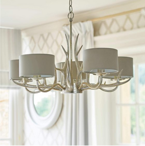 Laura Ashley Mulroy 5 Light Chandelier Champagne