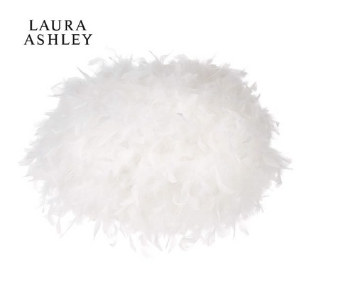 Laura Ashley Feather White Feather Large Easy Fit Shade