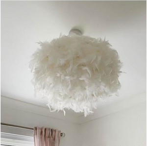 Laura Ashley Feather White Feather Easy Fit Shade