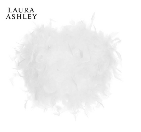 Laura Ashley Feather White Small Feather Easy Fit Shade