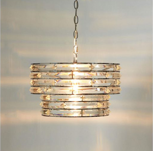 Laura Ashley Nola Pendant Polished Chrome and Crystal