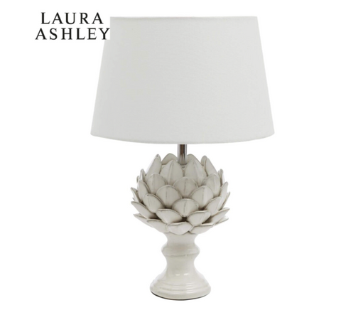 Laura Ashley Artichoke Table Lamp Cream with Shade