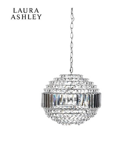 Laura Ashley Vienna Globe Pendant 5 Light Polished Chrome