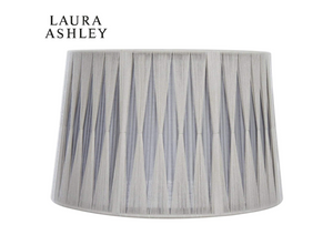 Laura Ashley 12 Inch Soft Grey and Charcoal Pleated Shade Empire