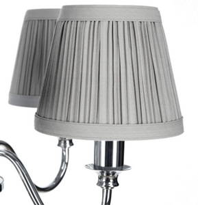 Laura Ashley Ellis 5 Light Polished Chrome with Shades