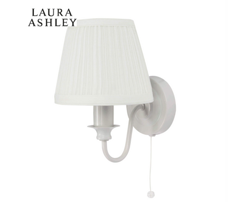 Laura Ashley Ellis Wall Light Grey with Shade