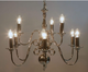 Laura Ashley Winchester 9 Light Chandelier Polished Nickel