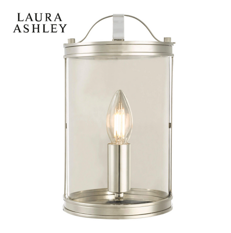 Laura Ashley Harrington Wall Light Polished Nickel