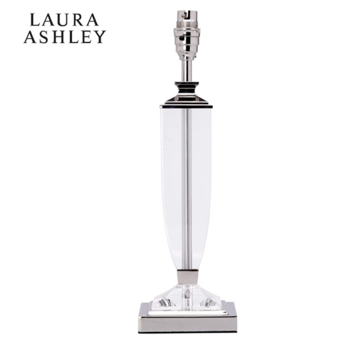 Laura Ashley Carson Crystal Table Lamp Medium Base Only Polished Nickel