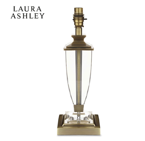 Laura Ashley Carson Crystal Table Lamp Small Base Only Antique Brass