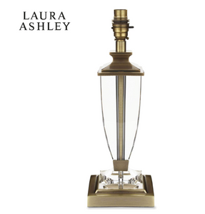 Laura Ashley Carson Crystal Table Lamp Medium Antique Brass