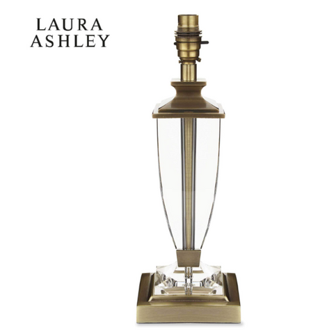 Laura Ashley Carson Crystal Table Lamp Medium Base Only Antique Brass