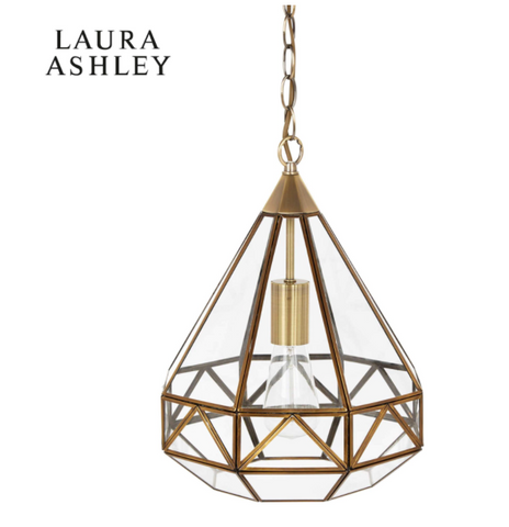 Laura Ashley Zaria Pendant Antique Brass